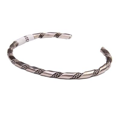 Sterling Silver Navajo Twisted Two Rope Cuff