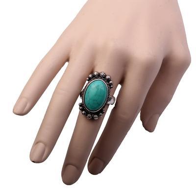 Imitation Oval Turquoise Ring