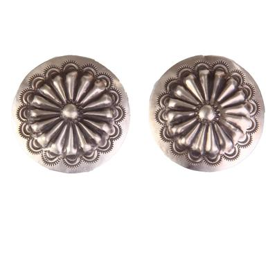 Hand Crafted Silver Concho Earrings
