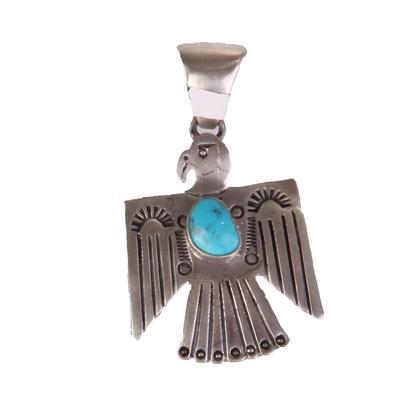 Thunderbird Pendant With Turquoise Stone