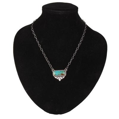 Turquoise Slab Pendant Necklace