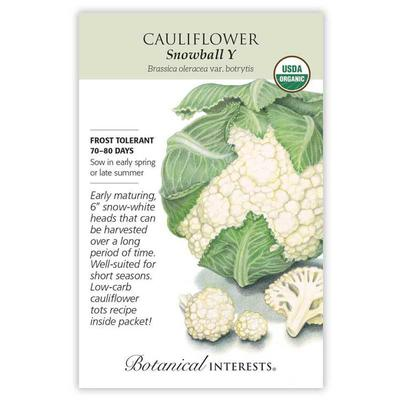 Botanical Interest Organic Snowball Y Cauliflower Seeds