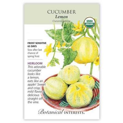 Botanical Interest Organic Lemon Cucumber Seeds