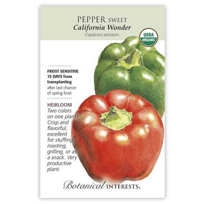 Botanical Interest California Wonder Sweet Pepper Seeds