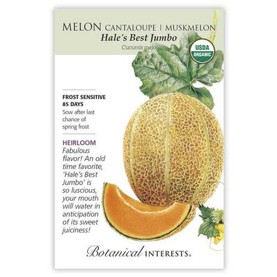 Botanical Interest Organic Jumbo Cantaloupe/Muskmelon Seeds