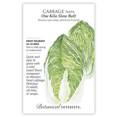 Botanical Interest Slow Bolt Napa Cabbage Seeds
