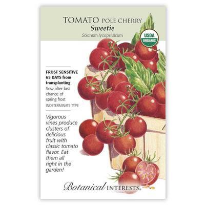 Botanical Interest Organic Sweetie Pole Cherry Tomato Seeds
