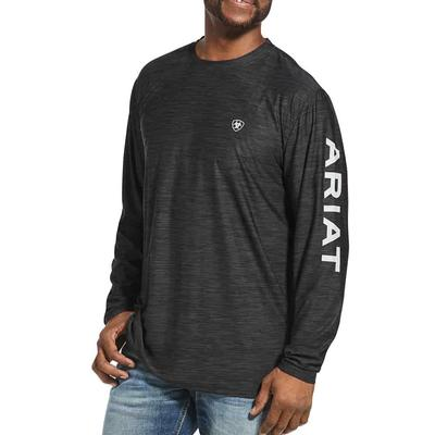 Ariat Men's Charger Logo Tee In Charcoal