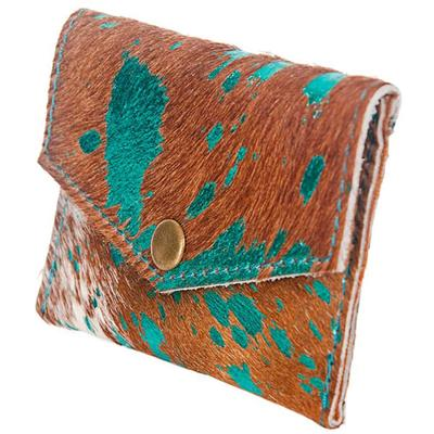 American Darling Tan & Turquoise Hair On Pouch