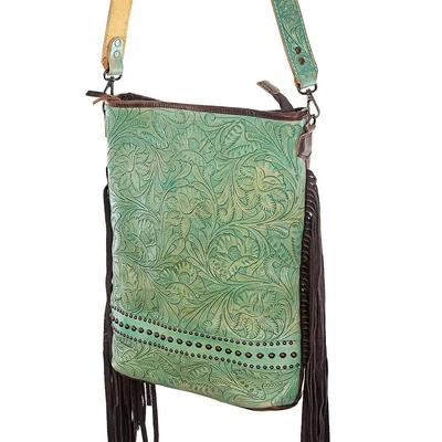 American Darling Embossed Leather & Fringe Crossbody