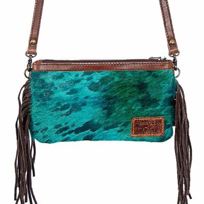 American Darling Turquoise Fringe Crossbody