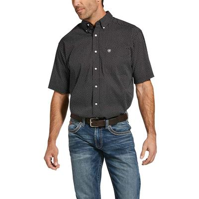Ariat Men's Houndstooth Grip Casual Series Iron Side Stretch Shirt