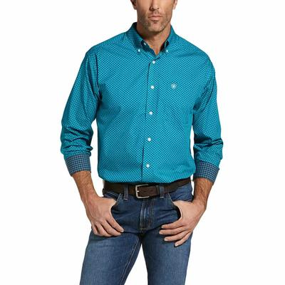 Ariat Men's Ivy League Laguna Wrinkle Free Casual Fit Button Down