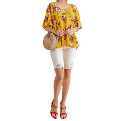 Kori Women's Floral Button Down Top