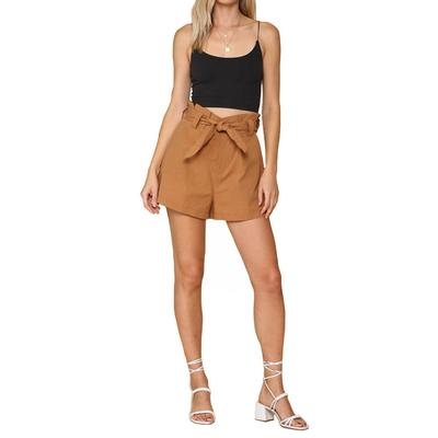 Women's High Waisted Front Tie Shorts