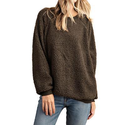Women's Fur Raglan Sleeve Pullover