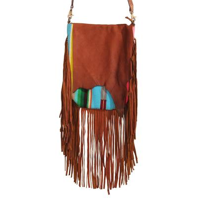 American Darling Vibrant Leather Fringe Crossbody