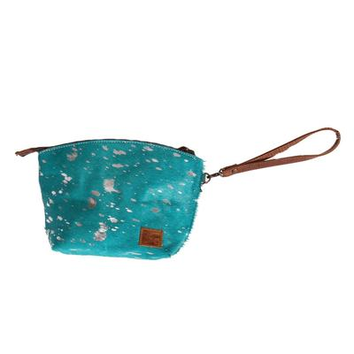 American Darling Turquoise Hair On Pouch With Wristlet