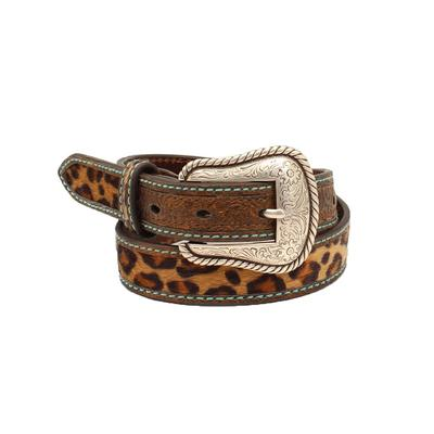 Ladies 1.25 Inch Leopard & Leather Belt