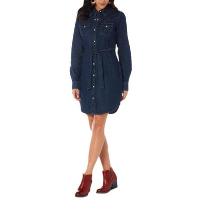 Wrangler Women's Embroidered Denim Dress