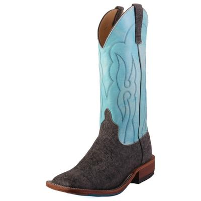 Anderson Bean Men's Grey Safari Buffalo Western Boots