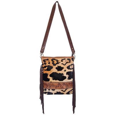 American Darling Hair On Tooled Cheetah Cross Body Messenger