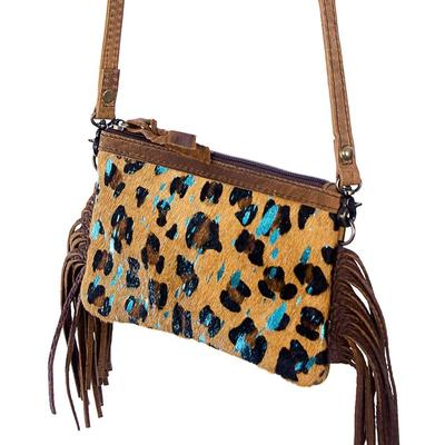 American Darling Hair On Tassel Cheetah Crossbody