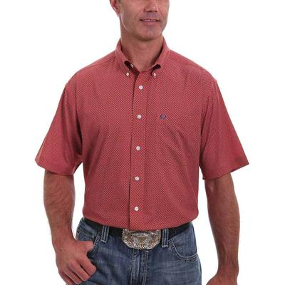 Cinch Men's Lightweight Red Button Down Shirt