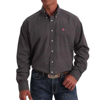 Cinch Men's Printed Cotton Long Sleeve Button Down