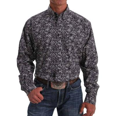 Cinch Men's Purple Paisley Button Down Shirt