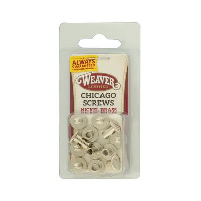 Weaver Leather Nickel Chicago Screws
