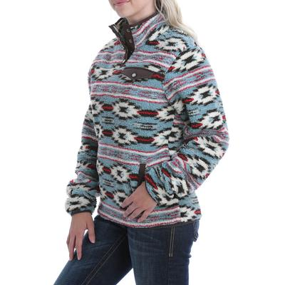 Cinch Women's Printed Jaquard Fleece Pullover