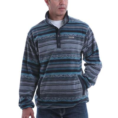 Cinch Men's Multi Blue Aztec Stripe Fleece Sweatshirt