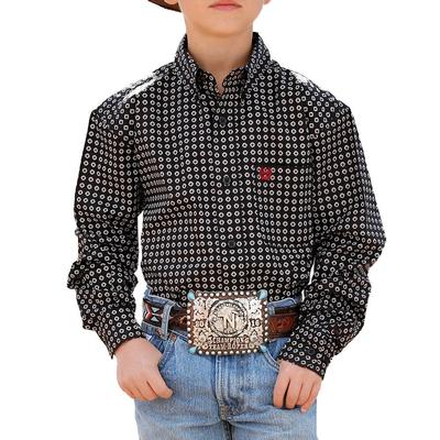 Cinch Boy's Black Button Down Shirt