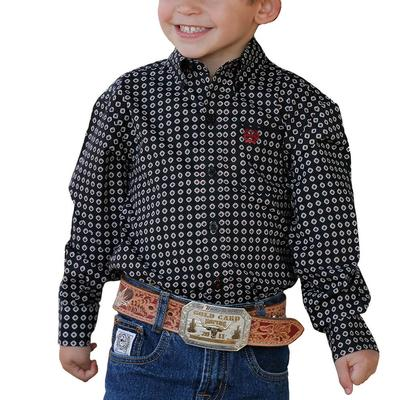 Cinch Toddler Black Button Down Shirt