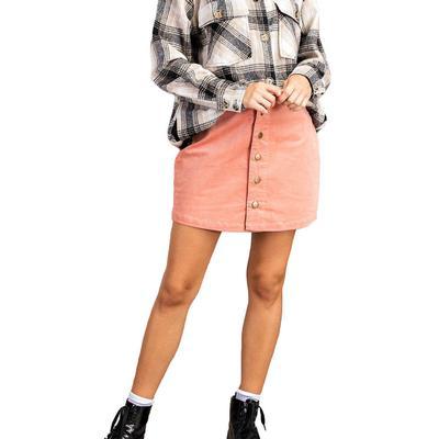 Kori Women's A-Line Button Down Skirt