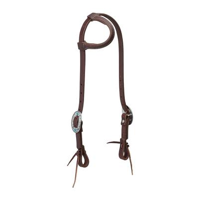 Working Tack Feather Sliding Ear Designer Headstall