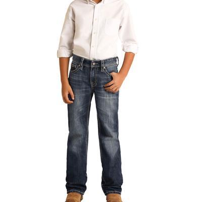 Rock&Roll Boy's Reflex Dark Vintage Bootcut Jeans