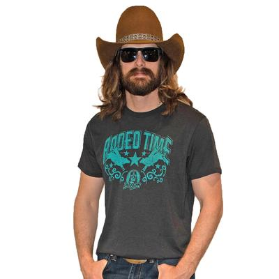 Dale Brisby Men's Teal Rodeo Time Tee