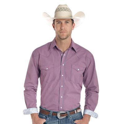 Panhandle Men's Purple Checkered Snap Shirt