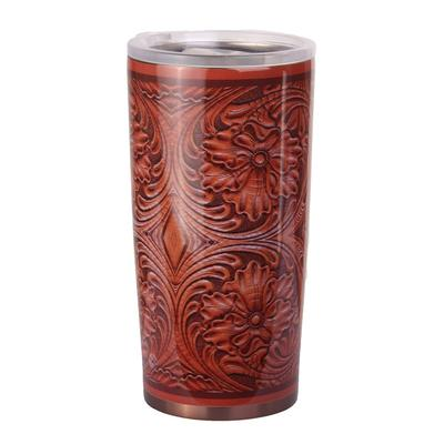 Stamped Leather 24oz Tumbler