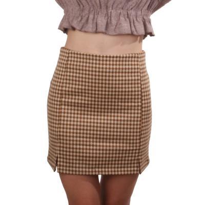 Women's Sandy Plaid Mini Pencil Skirt