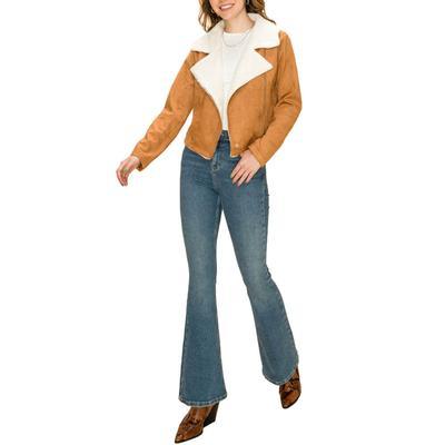 Women's Camel Sherpa Utility Jacket