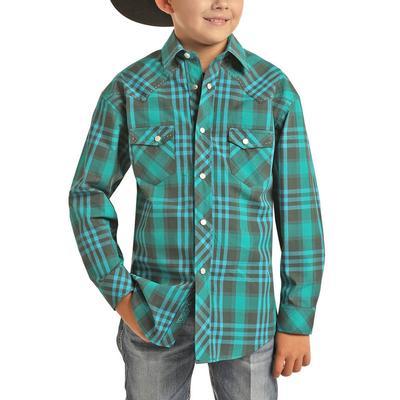 Rock&Roll Dale Brisby Boy's Yarn-dyed Plaid Shirt