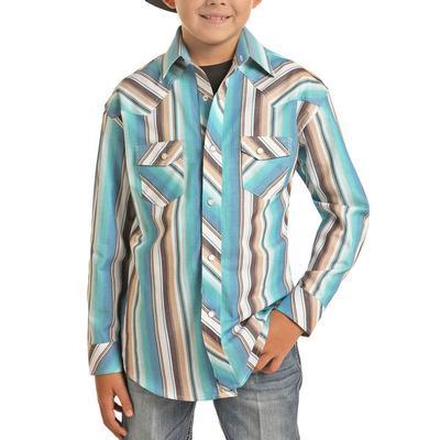 Rock&Roll Dale Brisby Boy's Serape Print Shirt