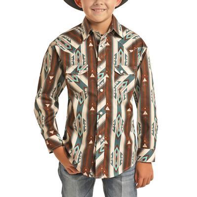 Rock&Roll Dale Brisby Boy's Aztec Print Shirt