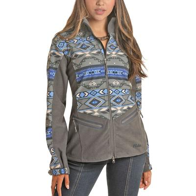 Rock&Roll Women's Charcoal Aztec Softshell Jacket