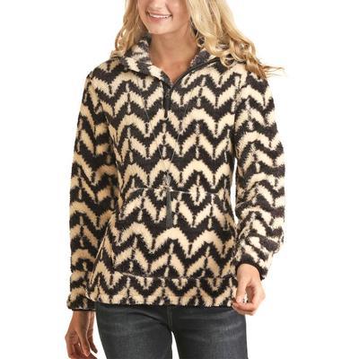 Rock&Roll Women's Berber Printed Pullover