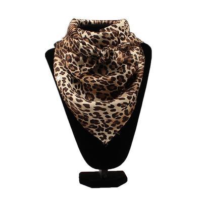 Cheetah Print Silk Wild Rag