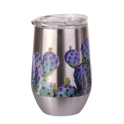 Purple Prickly Pear Wine Glass
